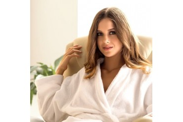 100% Cotton Quick-Dry Bathrobe for Her