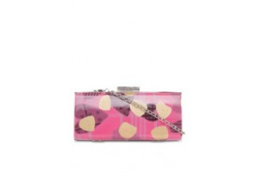 Spots Rectangle Hard Case Clutch / Minaudiere