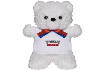The World's Greatest Swimmer Sports Teddy Bear by CafePress