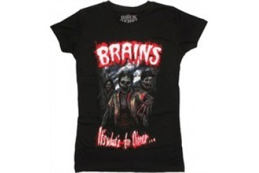 Zombies Brains It's What's for Dinner Baby Doll Tee