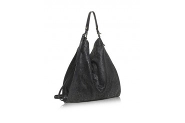 Madeleine Black Leather Tote