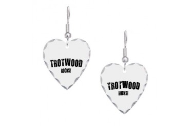 Trotwood Rocks Ohio Earring Heart Charm by CafePress