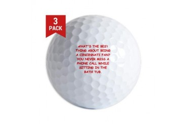 CINCY3.png Funny Golf Balls by CafePress