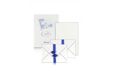 Capri - 50 Sheets White Letter Paper with Handpainted Border
