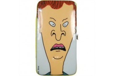 Beavis and Butthead Both Heads Double Sided Clutch Wallet