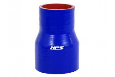 HPS 1.75 to 2.5 Inch 45mm to 63mm 4-ply Reinforced Reducer Coupler Silicone Hose 4 Inch Long Blue
