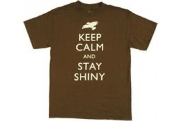 Firefly Keep Calm and Stay Shiny Ship T-Shirt