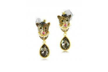 Princess Leopoldine Panther Earrings