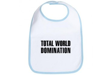 TOTAL WORLD DOMINATION: Military Bib by CafePress