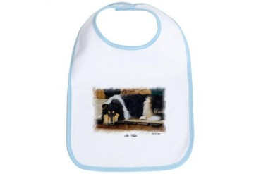 Tri Color Collie Art Gifts Art Bib by CafePress