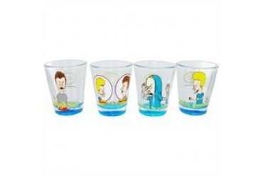 Beavis and Butthead Quotes Clear Shot Glass Set