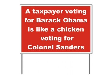 A TAX PAYER VOTING FOR BARACK OBAMA IS LIKE A...