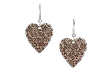 Animal Earring Heart Charm by CafePress