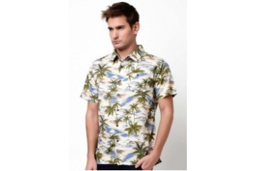 Native Youth HAWAIIAN PALM PRINT SHIRT