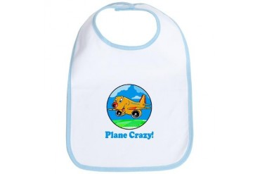 Plane Crazy Kids Kids Bib by CafePress