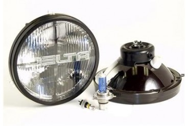 "Delta Industries Delta ""Classic"" 7"" H4 Hi/Lo Beam 60/55W Headlights, w/High Output LED Blinkers 01-1189-SMDA Headlight Replacement"