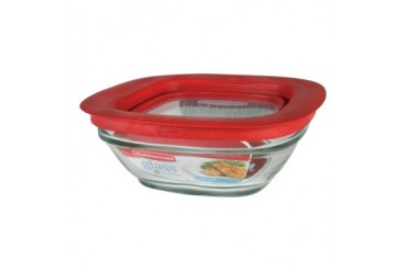 4 Pack Rubbermaid 2856003 Glas Food Containr Sq2.5C