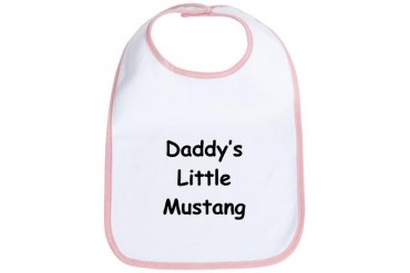 Daddy's Little Mustang Sports Bib by CafePress