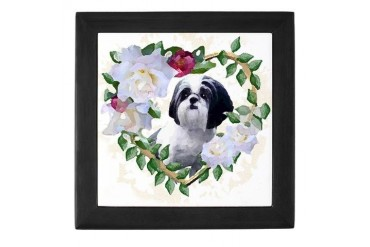 Shih Tzu Heart Love China Pets Keepsake Box by CafePress