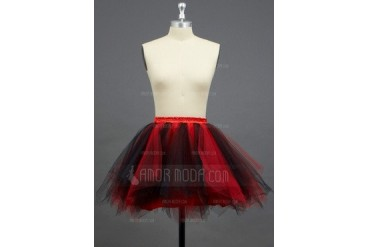 Women/Girls Tulle Netting/Polyester Short-length 2 Tiers Petticoats (037033975)