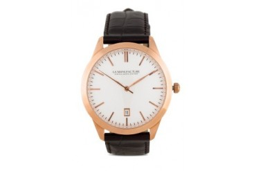 La Manufacture Classic Rose Gold MX8306BH Watch with Brown Leather Strap