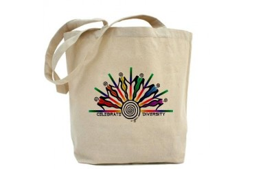 Celebrate Diversity Gay pride Tote Bag by CafePress
