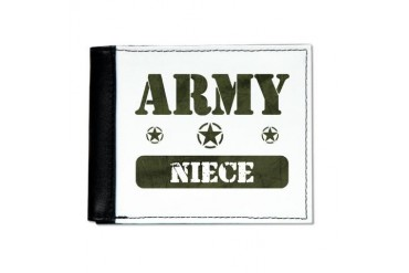 Army Niece Army Mens Wallet by CafePress