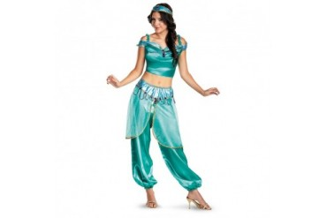 Womens Disney Jasmine Deluxe Halloween Costume