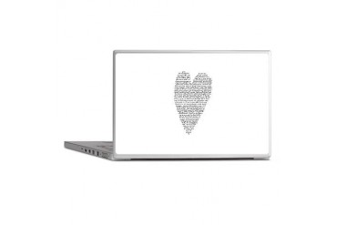 Black and white Laptop Skins by CafePress