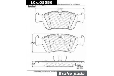 1998-1999 BMW 323is Brake Pad Set Centric BMW Brake Pad Set 104.05580 98 99