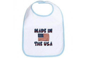 Made In The USA Funny Bib by CafePress