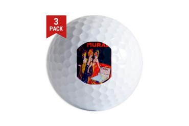ART NOUVEAU Vintage Golf Balls by CafePress