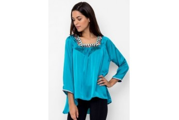 Chanira Blouse Square Neck Full Embro
