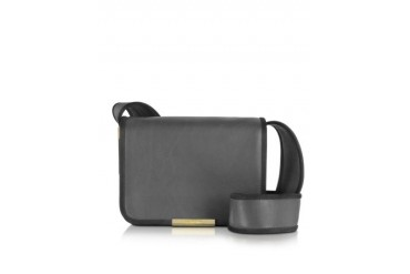 Aster Graphite Leather Crossbody Bag