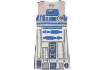Star Wars R2-D2 Suit Dye Sublimated Snug Fit Tank Top Dress