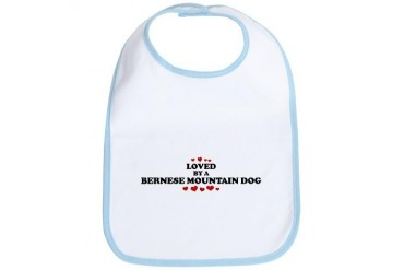 Loved: Bernese Mountain Dog Pets Bib by CafePress