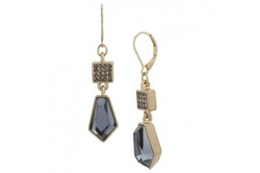 Pav Faceted-Bead Drop Earring