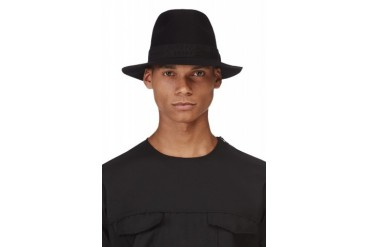 Lanvin Black Wool Fedora