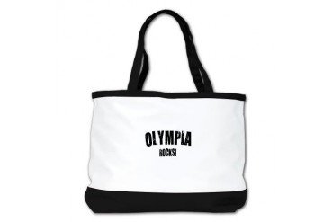 Olympia Rocks Location Shoulder Bag by CafePress