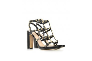 Rockstud Noir High-Heeled Sandal