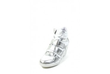 Foil trim wedge sneaker