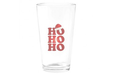Ho Ho Ho Funny Drinking Glass by CafePress