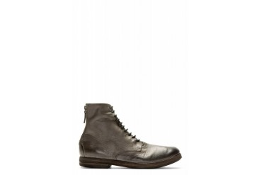 Marsll Grey Burnished Leather Listello Ankle Boots