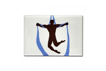 welhung no words Dance Rectangle Magnet by CafePress
