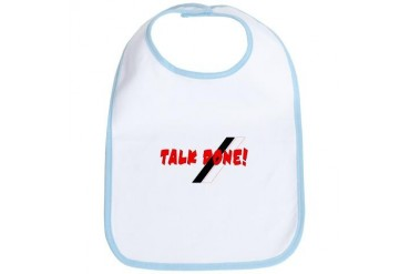 Talk Done Caribbean Bib by CafePress
