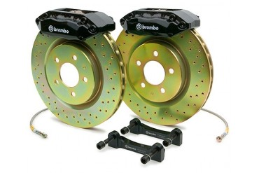 Brembo GT 11 Inch 4 Piston Drilled Front Brake Kit Fiat 500 11-13