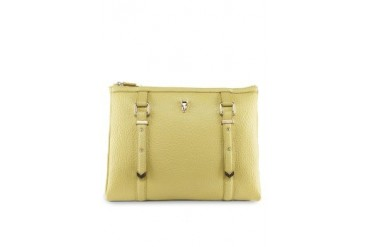 Amber Belted Flat Clutch