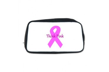 Breast cancer awareness think pink ribbon large.p Breast cancer Toiletry Bag by CafePress