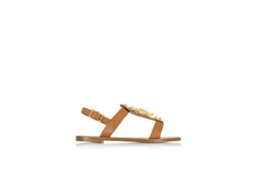 Gryphon Leather Flat Sandals
