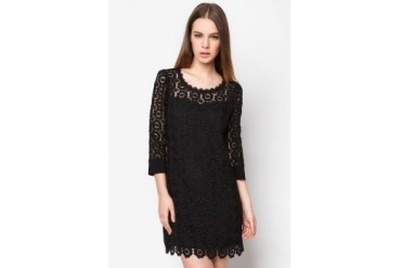 bread n butter Lace Mixed Dress